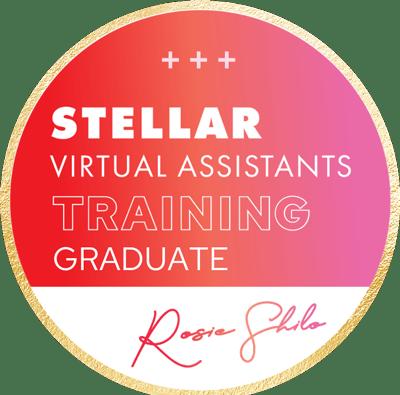 irtually Yours Stellar Virtual Assistant Training Graduate